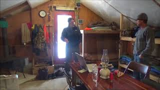 Download THE TENT. Deer Hunting 2017. We made it to camp! Icy roads. More snow. Trees down. Video