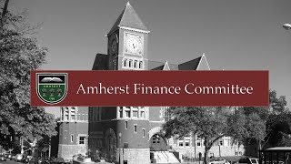 Download Amherst Finance Committee - January 7, 2020 Video