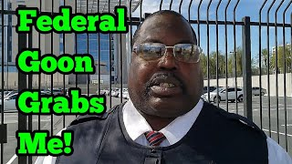 Download New - Federal Security Gets Clowned Then Lashes Out - Las Vegas Federal Court House part 1 Video