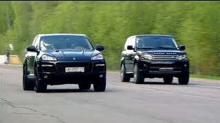 Download Porsche Cayenne Turbo Gemballa vs Land Rover RRS vs Mercedes-Benz ML63 AMG Video