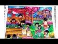 Download Cara Menggambar dan mewarnai tema Hut Kemerdekaan RI - Gradasi Warna Oil Pastel Crayon Video