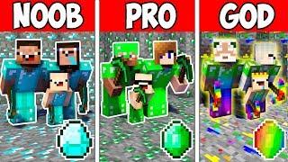 Download Minecraft NOOB vs PRO vs GOD : FAMILY MINING CHALLENGE in Minecraft ! Animation Video