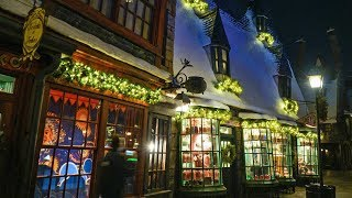 Download Christmas in the Wizarding World of Harry Potter nighttime tour at Universal Studios Hollywood Video