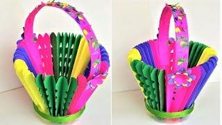 Diy Best Reuse Of Plastic Bottles Make Basket From Foam Sheet And