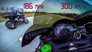 Download Kawasaki Ninja H2 vs BMW S1000RR - 10 minutes of PURE ADRENALINE Top Speed +200 MPH +330 KM/H - 2017 Video