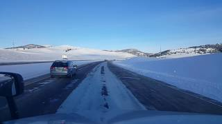 Download BigRigTravels Bozeman Pass, Montana Interstate 90 East-Feb. 19, 2018 Video