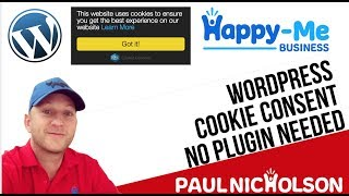 Download How To: Add Cookie Consent Popup To A Wordpress Website - No Plugins Video