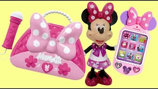 Download MINNIE MOUSE Happy Helper Bag, Cellphone, Sunglasses & Passport Playset Video