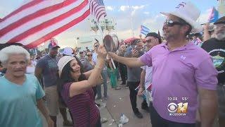 Download Cuban-Americans In Miami Celebrate Death Of Fidel Castro Video
