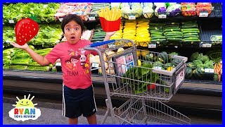 Download Ryan Kids Size Shopping Cart and Learn Healthy Food choices for Back to School!!! Video