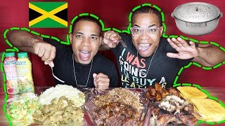 Download JAMAICAN FOOD MUKBANG🇯🇲 (OXTAILS,RICE&PEAS,JERK CHICKEN,CURRIED GOAT,BEEF PATTY) | BaddieTwinz Video