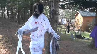 Download My Dads halloween decorations, scary! 2009 edition Video
