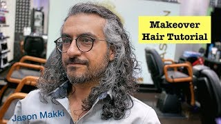 Download Amazing Hair Transformation - Makeover Scissors Haircut - Long Hairstyle for men 2018 #22 Video