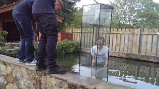 Download Huge inverted aquarium/ upside down fish tank ( part 1) Video