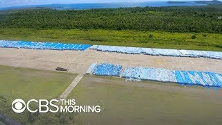 Download What may be millions of water bottles from FEMA sitting on Puerto Rico tarmac, photos show Video