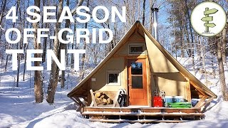 Download Off-Grid Prospector-Style Tent: A Tiny House Alternative Video