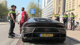 Download Eljero Elia got pulled over with his Lamborghini Huracan. Video