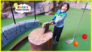 Download Ryan's first time playing putt-putt mini golf with mommy and daddy! Video