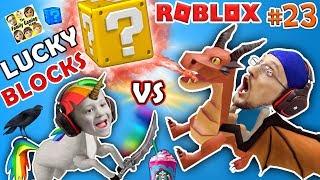 Download ROBLOX LUCKY BLOCKS BATTLE! UNICORNS & FRAPPUCCINO, WHERE MY DRAGON GO? (FGTEEV #23 Minecraft Game) Video