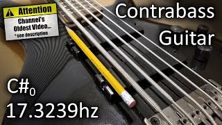 Download Contrabass Guitar Build (Scale And Tone Test) Video