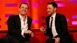 Download Michael Fassbender & James McAvoy's fan art romance - The Graham Norton Show - BBC Video