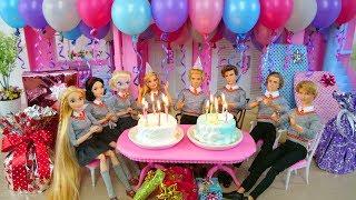 Download Twin Barbie & Ken's Birthday Party with Friends! Pesta ulang tahun Barbie Festa de aniversário Video