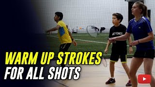 Download Play Better Badminton - Warm Up Strokes for All Shots - Coach Andy Chong Video