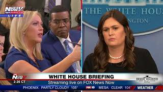 Download TENSE MOMENTS: Between reporters, Sarah Sanders at White House press briefing (FNN) Video