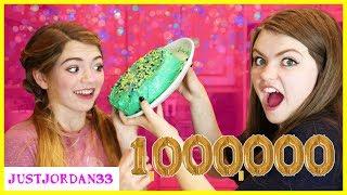 Download 3 Color Cake Challenge I 1 Million Sub Celebration! / JustJordan33 Video