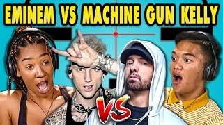 Download Teens React to Eminem/Machine Gun Kelly Diss Tracks Video