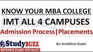 Download Know your MBA College | IMT (All 4 campuses) - Eligibility, admission process, placements, cut offs Video