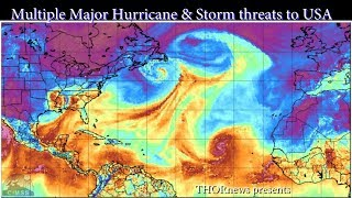 Download Category 3 Hurricane Irma + Tropical Wave/Storms Jose & Katia & Lidia ALL threats to USA Video