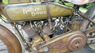 Download Original paint 1918 Harley Motorcycle Video