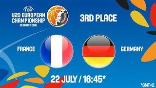 Download LIVE 🔴 - France v Germany - 3rd Place - FIBA U20 European Championship 2018 Video
