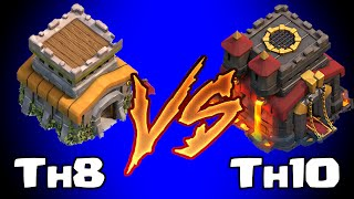 Download Clash of clans TOWN HALL 8 vs TOWN HALL 10 (Awesome raids) Video