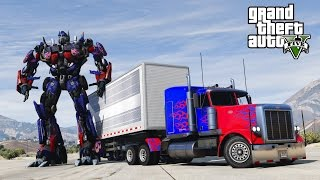 Download GTA 5 TRANSFORMERS MOD - I CRASHED INTO OPTIMUS PRIME! - HD 60FPS Video
