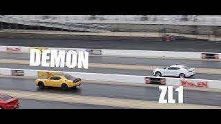 Download Procharged ZL1 destroys Dodge Demon in rollrace!! Video
