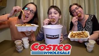 Download Costco Chicken Wings Bucket And Poutine | Gay Family Mukbang (먹방) - Eating Show Video