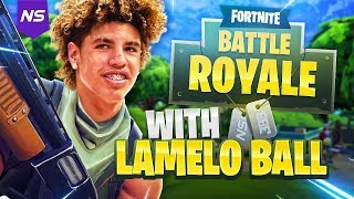 Download PLAYING FORTNITE WITH LAMELO BALL! Video
