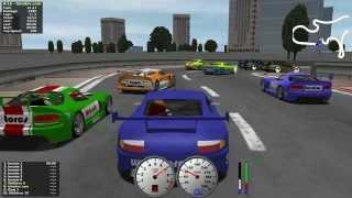 Download TORCS gameplay car2-trb1 versus all on Road Tracks - Makowiec city Video