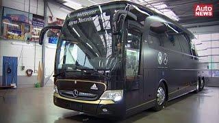 Download Neuer Mercedes-Bus für die deutsche Fußball-Nationalmannschaft Video