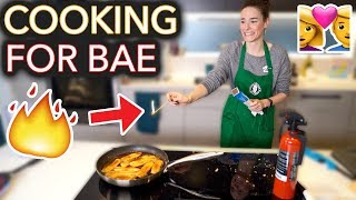 Download I Tried to Cook My Boyfriend His Fav Meal (I set it on fire) Video
