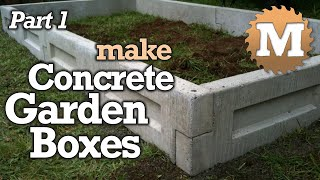 Download Amazing Concrete Garden Boxes - DIY Forms to Pour and Cast Cement Planter link together Beds Video