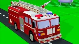 Download Мультфильмы 3D: Пожарная машина и красный автомобиль. Развивающие мультики Video
