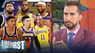 Download Nick Wright lays out the best lineup for LeBron, Lakers | NBA | FIRST THINGS FIRST Video