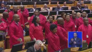 Download Violence erupts in Parliament as EFF MPs get carried away Video