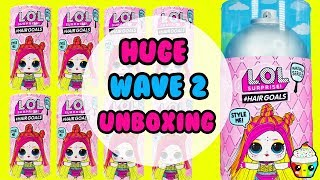 Download LOL Surprise Hair Goals WAVE 2 Giant Unboxing Cupcake Kids Club Video