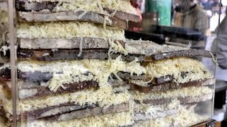Download London Street Food. Huge Cheese Sandwiches at Camden Town and Borough Market Video