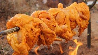 Download 10 KG / Tandoori chicken prepared by my Daddy in my village / Village food factory Video