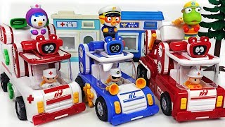 Download Minions stole Pororo police car! Let's go Tuktakman police car, fire truck, ambulance! #PinkyPopTOY Video